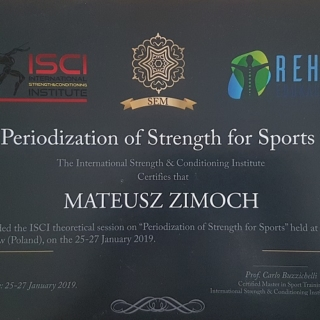 Mateusz Zimoch, trener personalny