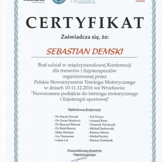 Sebastian Demski, trener personalny, fizjoterapeuta