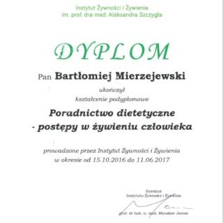 Bartłomiej Mierzejewski, trener personalny