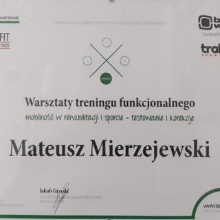 Mateusz Mierzejewski, trener personalny