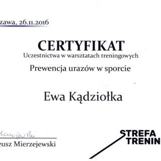 Ewa Kądziołka, trener personalny
