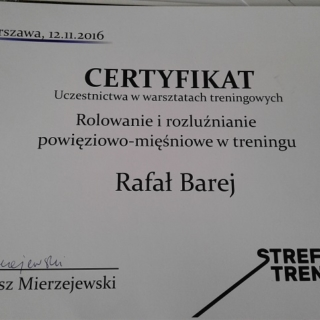 Rafał Barej, trener personalny
