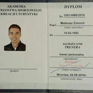 Mateusz Zimoch Trener Indywidualny