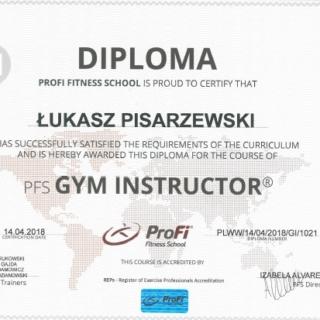 Łukasz Pisarzewski, trener personalny