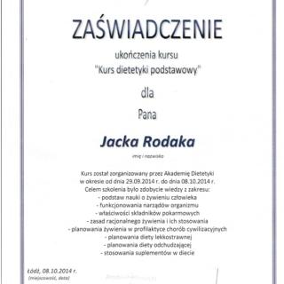 Jacek Rodak, trener personalny