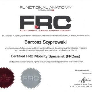 FRC certyfikat