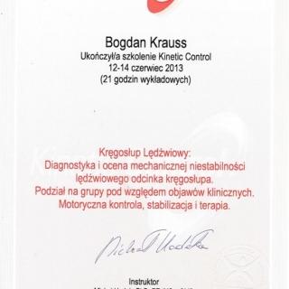 dr Bogdan Krauss, trener personalny