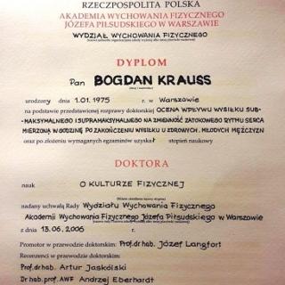 Bogdan Krauss, doktorat