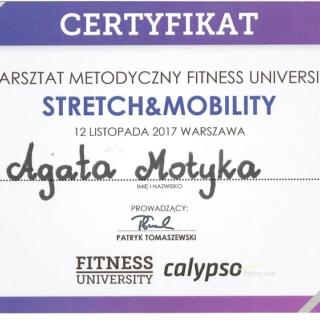 Agata Motyka, instruktor fitness