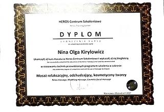 Nina Kiryłowicz, trener personalny